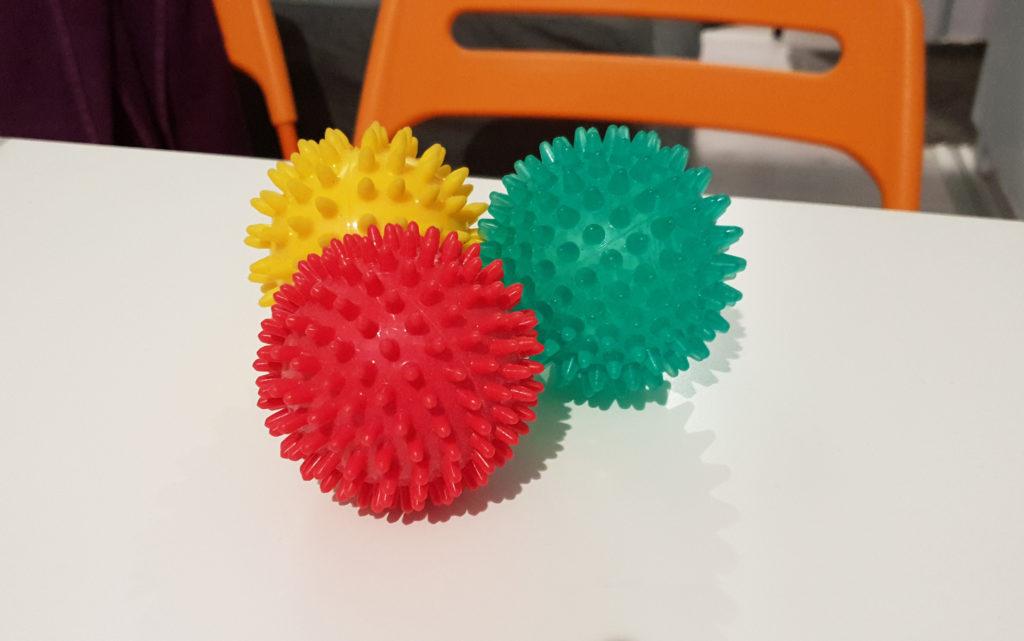 automassaggio palline riccio pilates