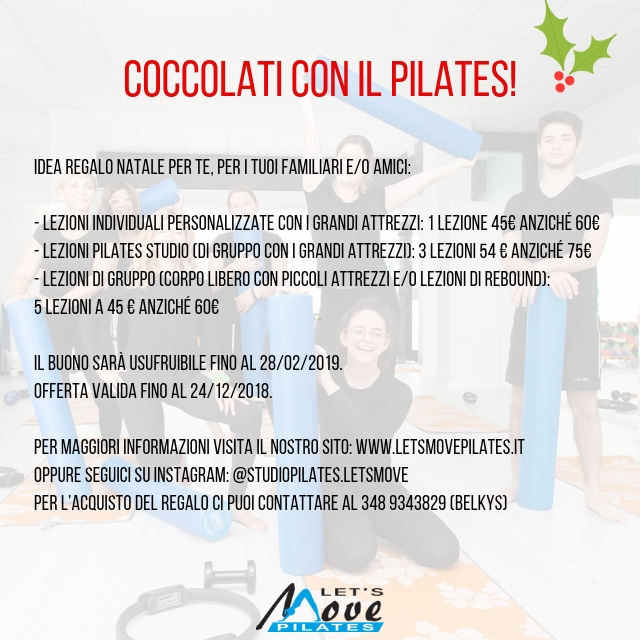 idea regalo natale let's move pilates udine