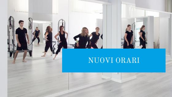 nuovi orari studio pilates let's move