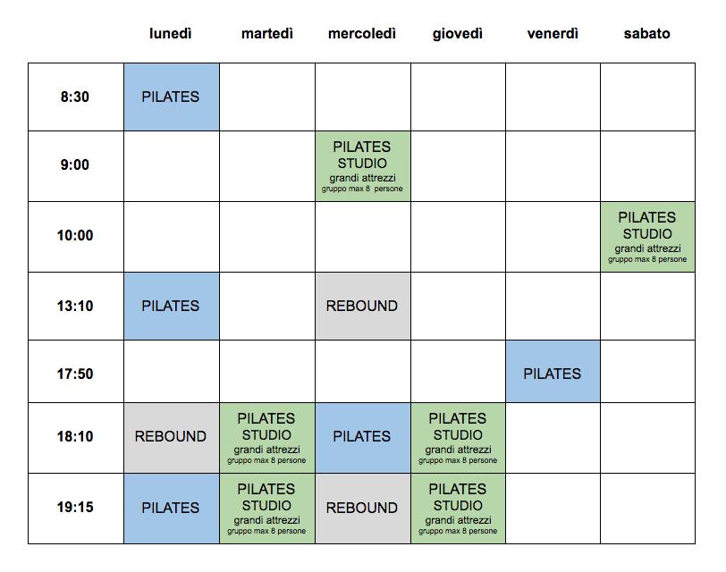 orario let's move pilates udine giugno 2021